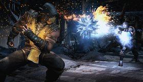 Картинка: Mortal kombat 10, бой, драка, замораживание, Scorpion, Sub-Zero