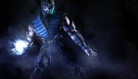 Картинка: Sub-zero, Mortal Kombat, нидзя, энергия, пар, сгусток света