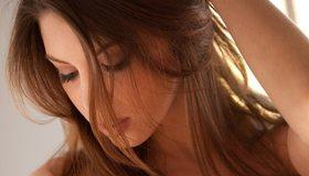 Картинка: Amber Sym, девушка, брюнетка, лицо, модель, шатенка, волосы