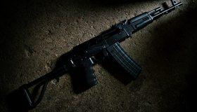 Картинка: Автомат, АК-47, черный, тёмный, текстура