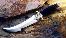 Картинка: Клинок, нож, сталь, холодное оружие, камень