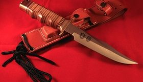 Картинка: Нож, клинок, рукоятка, чехол