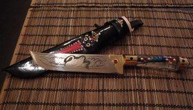 Картинка: Нож, ножны, рукоятка, рисунок, дизайн
