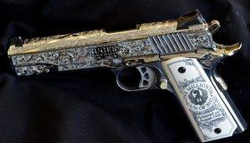 Картинка: Пистолет, Ruger, ствол, гравировка