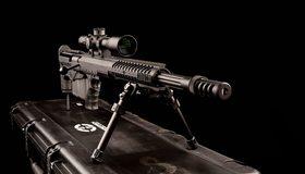 Картинка: Оружие, снайперская винтовка, подножки, чемодан, прицел, ствол