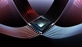 Картинка: Intel, подсоединение, процессор, бренд