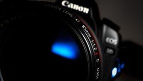 Картинка: Фотоаппарат, Canon, линза, объектив, фотокамера, макро