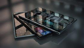 Картинка: Планшет, android, hi-tech, сенсор, отражение