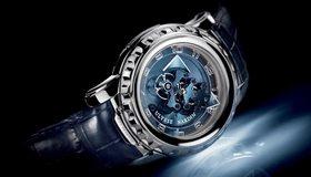 Картинка: Часы, стрелки, время, цифры, циферблат, механизм, ремешок, тёмный фон