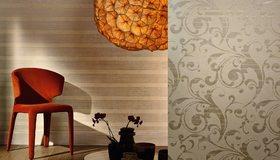 Картинка: Комната, стул, декор, обои, дизайн, паркет, пол, вазы, тень