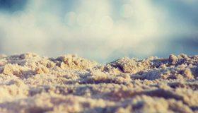 Картинка: Песок, блики, макро, песчинки, фокус