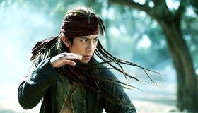 Картинка: 14 клинков, 14 blades, волосы, взгляд, бандана, битва, актёр, Jung Woo, Чун Ву