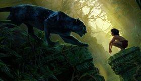 Картинка: Книга джунглей, Jungle Book, Маугли, ребёнок, Багира, чёрная пантера, хищник, кошка, руины