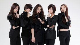 Картинка: Группа, Kara, девушки, брюнетки, певицы, в чёрном, азиатки
