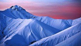 Картинка: Снег, горы, небо, пик, вершина