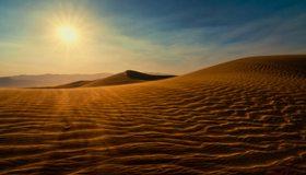 Картинка: Пустыня, дюна, пески, барханы, солнце, небо, волны