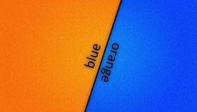 Картинка: blue, orange, голубой, оранжевый, линия, фон