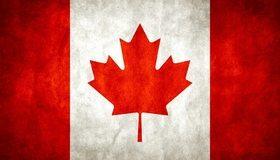 Картинка: Флаг, Канада, лист, клён