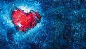 Картинка: Лёд, сердце, замороженное, текстура