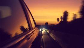 Картинка: Автомобили, трасса, фары, свет, езда, путь, отражение