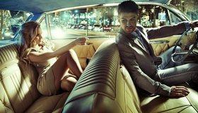 Картинка: Девушка, блондинка, мужчина, водитель, двое, салон, авто
