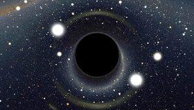 Картинка: Круг, свет, звёзды, космос, чёрная дыра, в центре