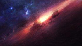 Картинка: Космос, газ, свет, молекулярное, облако, зарождение, формирование