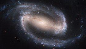 Картинка: Галактика, спиральная, NGS 1300, перемычка, завихрения, рукава, космос, пространство