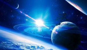 Картинка: Планета, свет, звезда, вселенная