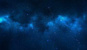 Картинка: Звёзды, космос, туманность, свечение, отражение