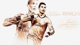 Картинка: Cristiano Ronaldo, спорт, футболист, знаменитость, белый фон