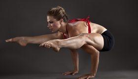 Картинка: Спортсменка, гибкость, девушка, гимнастика