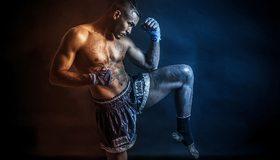 Картинка: Мужчина, мышцы, боец, тайский бокс, спорт, татуировки
