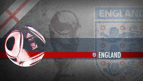 Картинка: Футбол, мяч, England, Англия, флаг, эмблема, кубок