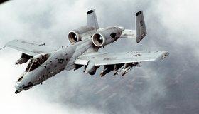 Картинка: Авиация, штурмовик, A-10, Thunderbolt 2, GAU-8A, ракеты, двухдвигательный, самолёт