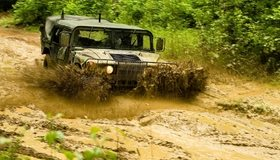 Картинка: Хаммер, Hummer, грязь, брызги, камуфляж, армия