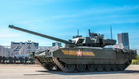 Картинка: Танк, Т-14, бронетехника, дуло, пушка