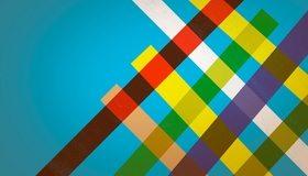 Картинка: Полосы, цветные, линии, голубой фон, потёртость