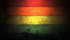 Картинка: Полосы, текстура, цвет, красный, оранжевый, желтый, зелёный, синий, затемнение