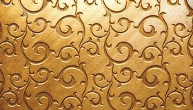 Картинка: Завитки, узор, золотой фон