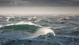 Картинка: Вода, волна, пена, шторм, море