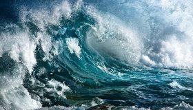 Картинка: Океан, вода, волна, брызги, стихия
