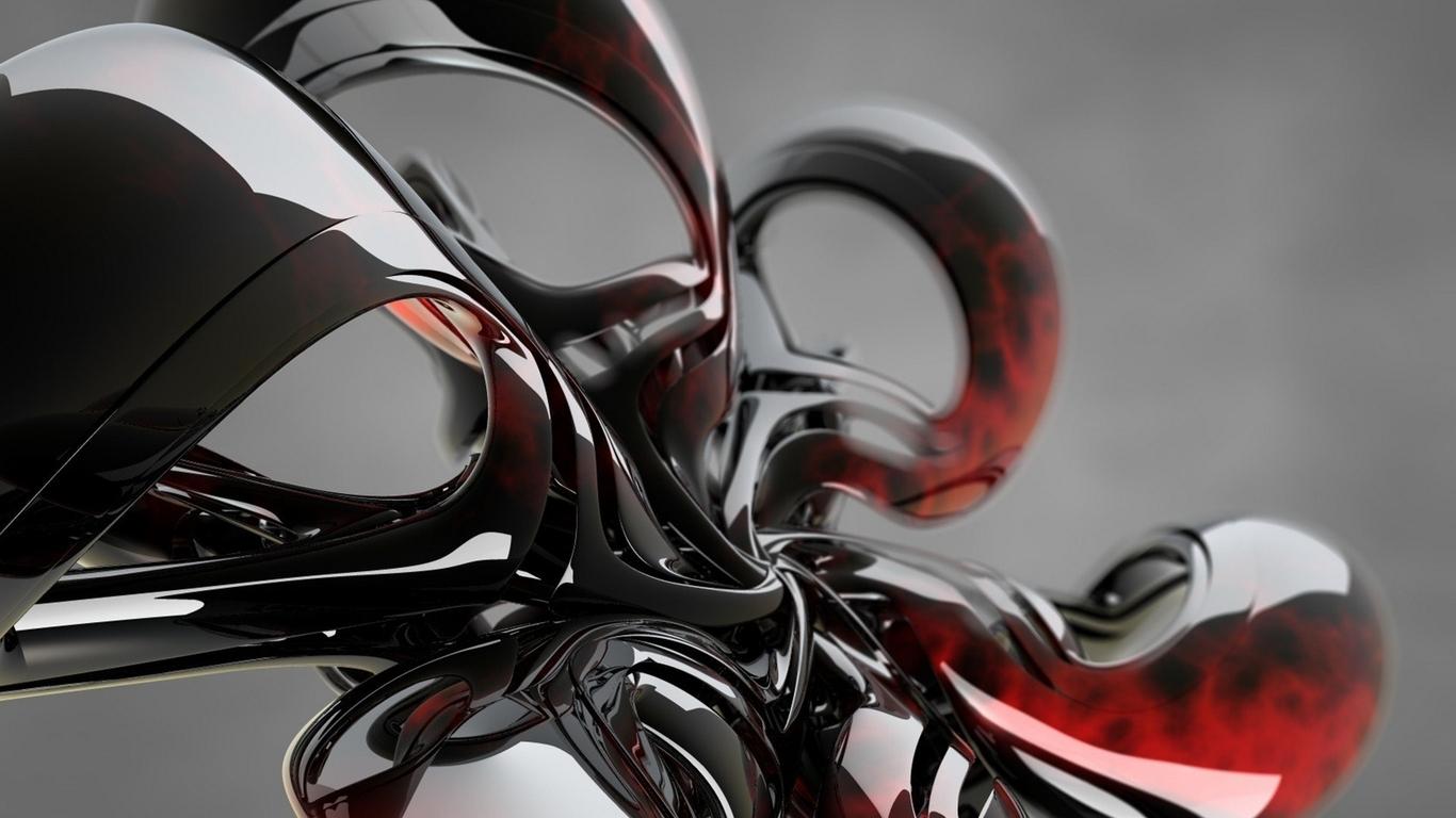 Картинка: Форма, стекло, фигура, отражение
