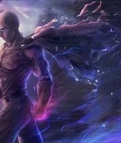 Картинка: Герой, супер человек, One Punch Man, Ванпанчмен, Человек одного удара, Сайтама, Лысый Плащ, барьер