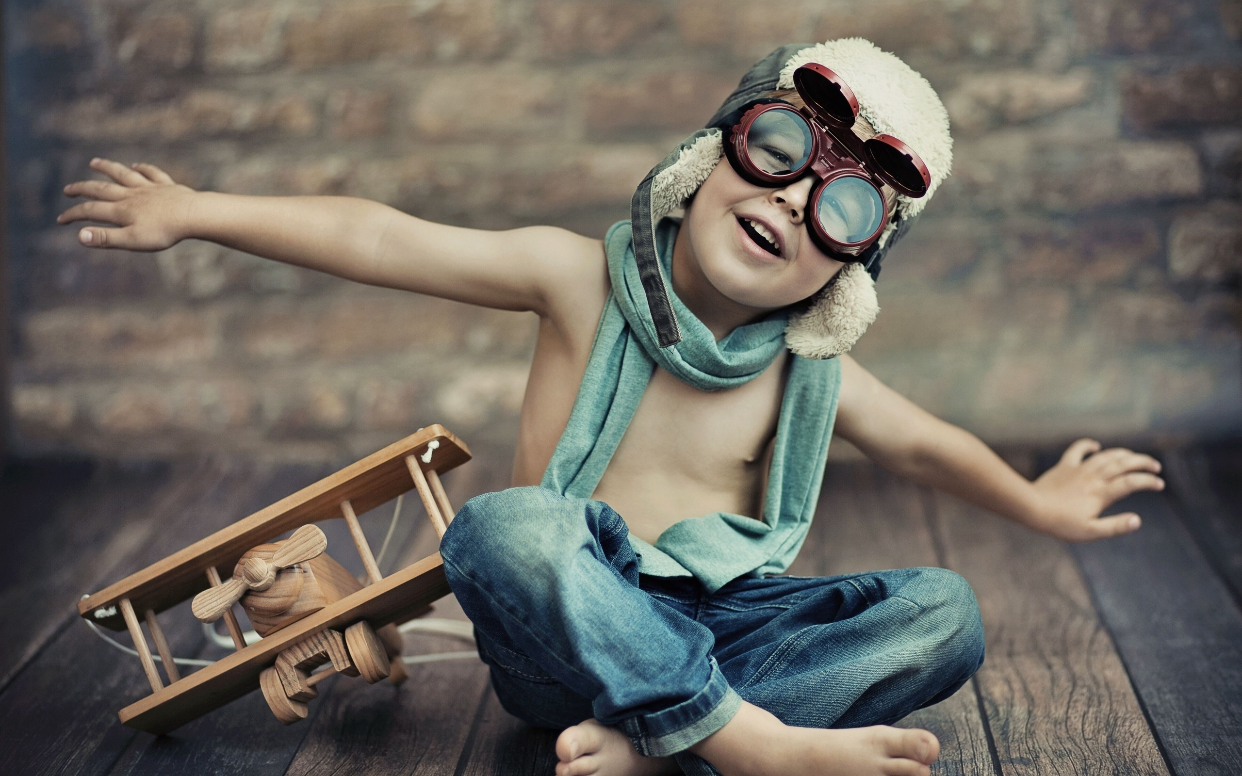 Image: Boy, game, helicopter, toy, sunglasses, hat