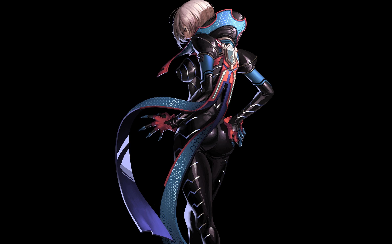 Картинка: Scarlets blade, osuk2, девушка, взгляд, фон, арт, костюм