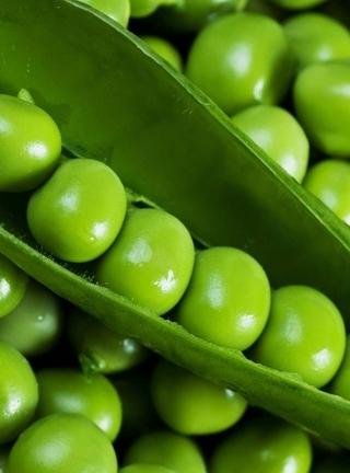 Картинка: Горошек, горошины, стручок, зелёный