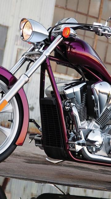 Картинка: Мотоцикл, байк, стиль, хром, Honda, VT 1300