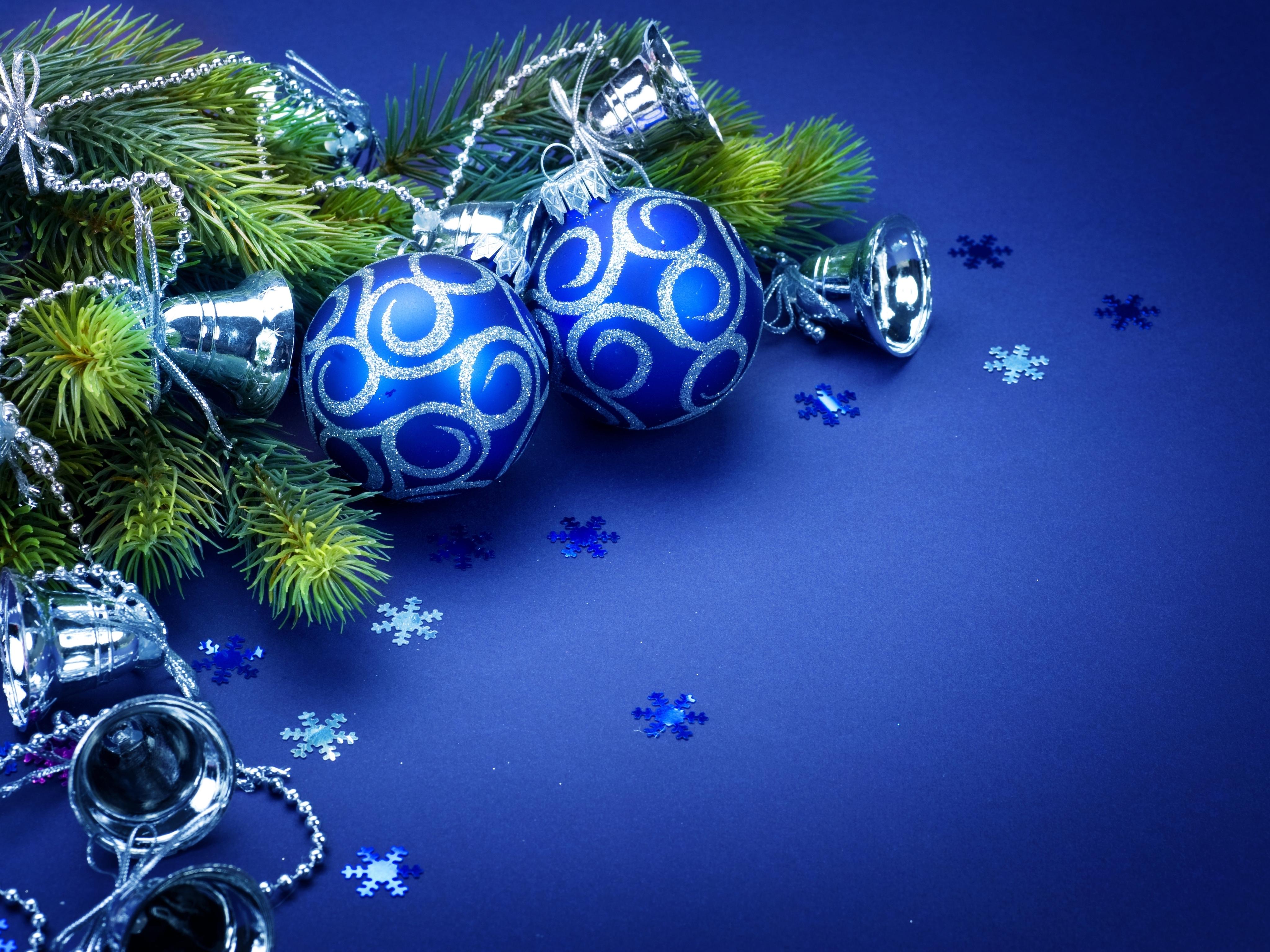 Обои снежинки, колокольчики. Новый год foto 14