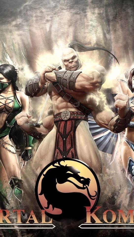 Картинка: Mortal Kombat 9, Goro, Jade, Scorpion, Kitana, Raiden, бойцы